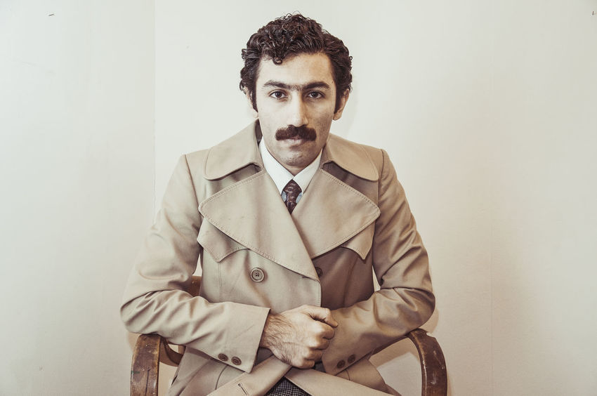 Man Movember Retro Suit Well Dressed Business Businessman Day Front View Hairstyle Indoors  Lifestyles Looking At Camera Men Mustache One Person Portrait Real People Retro Styled Shirt And Tie Studio Shot Suit Vintage Well-dressed Young Men