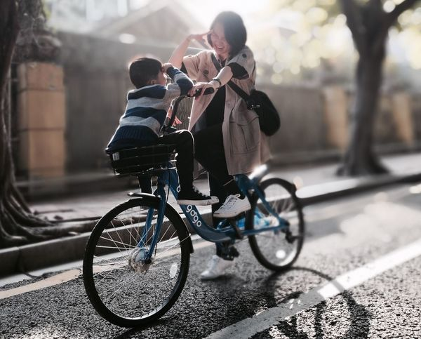 Playing bicycle