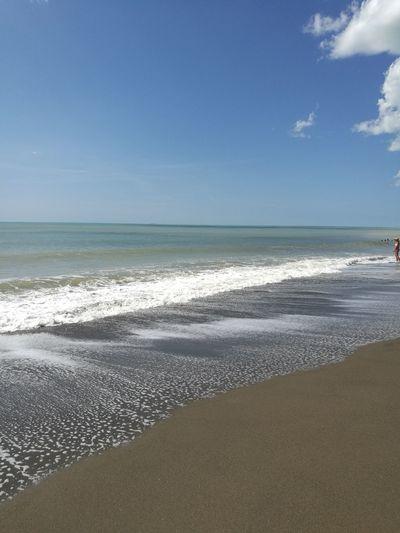 Water Wave Sea Beach Sand Blue Summer Sunny Sky Horizon Over Water