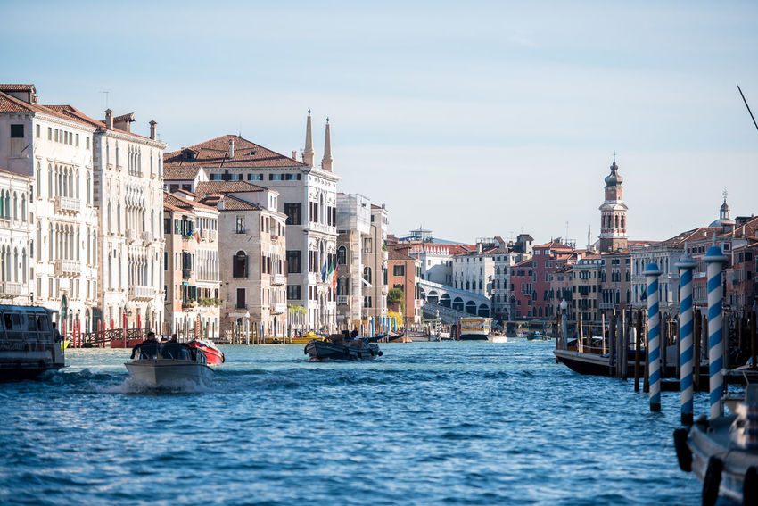 Venice, Italy Architecture Building Exterior Built Structure Canal Day Gondola Gondola - Traditional Boat Large Group Of People Mode Of Transport Nautical Vessel Outdoors People Real People Sky Transportation Travel Destinations Venice Water Waterfront Wooden Post