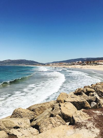 Tarifa Spain Tarifa Where The Sea Meets The Ocean Ocean Ocean Waves Summer ☀ Summer Memories 🌄