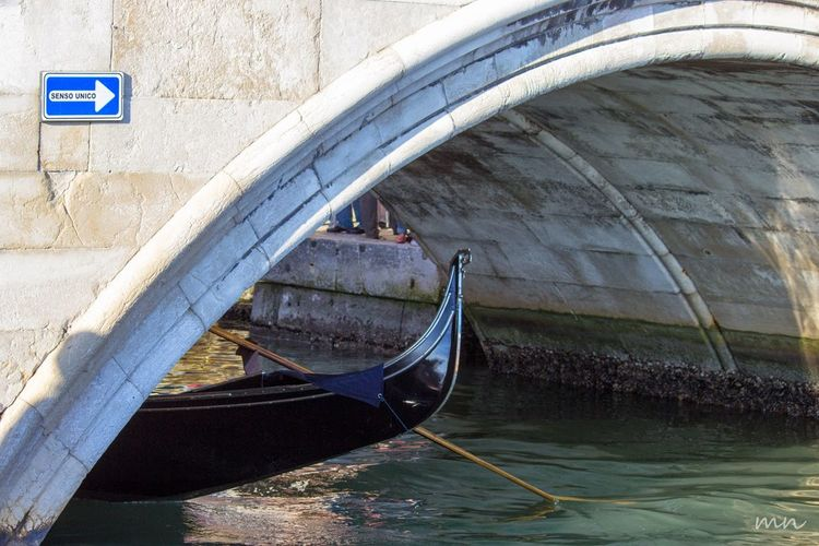 Boat Built Structure Canal Day Gondola Mode Of Transport Nautical Vessel No People Outdoors Rippled River Transportation Venice Water