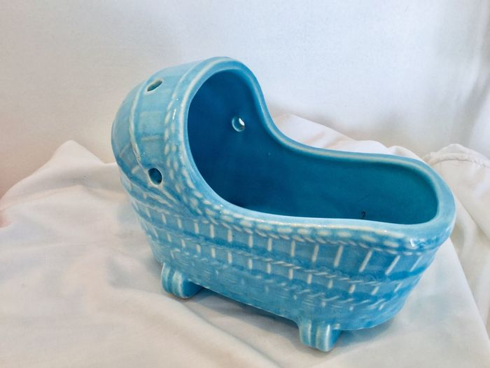 Vintage Planter Baby Cradle Pottery EyeEm Selects Blue Indoors  No People Still Life Close-up Clothing