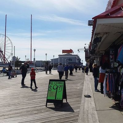Everybody's out and walking the beach and the boards.... Oceancitycool OceanCity Maryland Ocmd Boardwalk