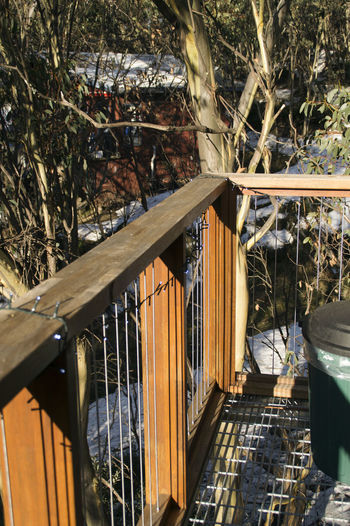Alpine Australia Alps Australia Balcony Balcony Alpine View Bush Snow Fairy Light Deco Snow Season Winter Wonerland