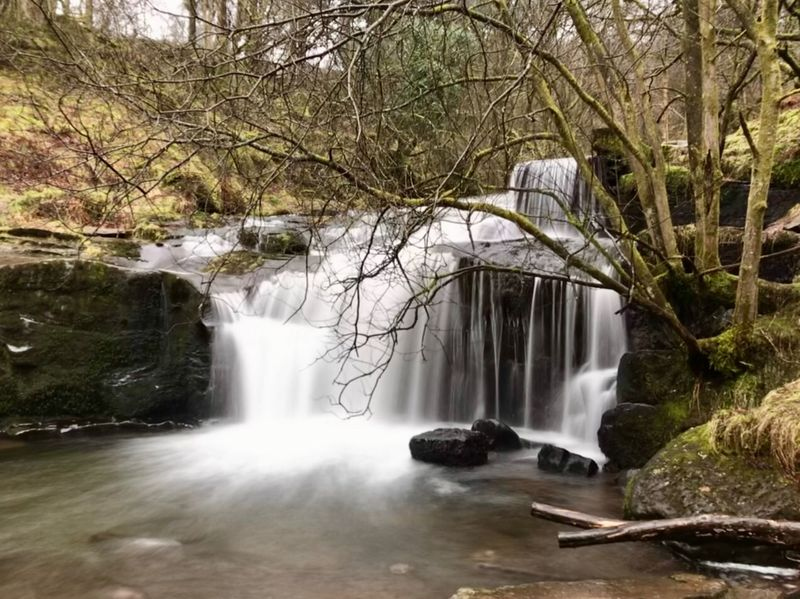 Long exposure on phone Brecon Beacons National Park Brecon Beacons Waterfall Motion Long Exposure Water Flowing Water Nature River