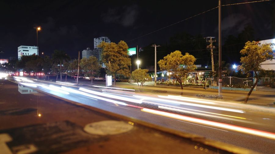 City Life Night Lights Photography Urban Street Long Exposure Light And Shadow Lighttrailsphotography Santo Domingo Dominican Republic Venue Cityscapes