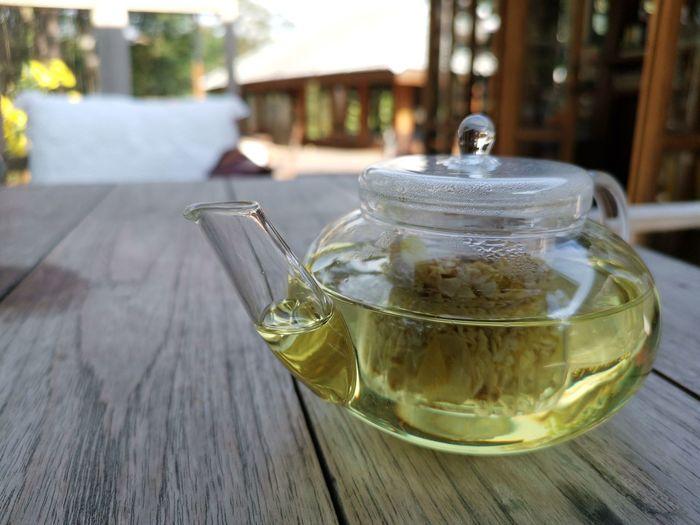 Rose tea. Mint Tea Herbal Tea Drink Tea - Hot Drink Teapot Drinking Glass Table Wood - Material Close-up Food And Drink Jug Tea Kettle Hot Drink Tea Kettle Beverage Green Tea