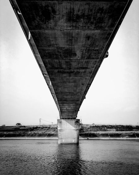 Bridge - Man Made Structure Connection Engineering Architecture Transportation River Below Built Structure Underneath Bridge Water Outdoors Day No People Road Under Low Angle View Nature Sky