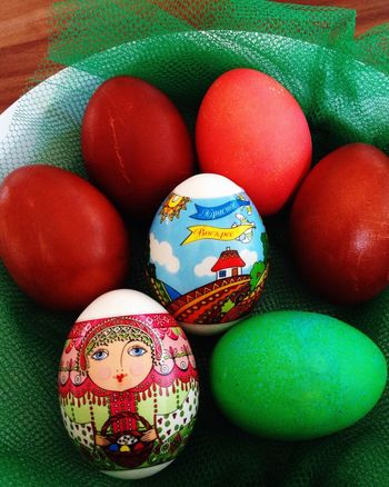 Happy Easter Eggs Easter Matrjoschka Colors Frohe Ostern! Matryoshka Happy Easter