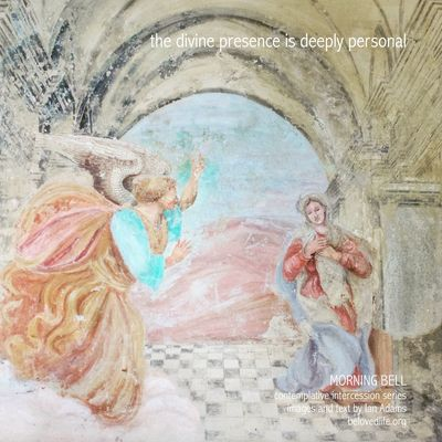No10 in series 'in our prayers (contemplative intercession)' Contemplation Stillness Shrine Cortona Presence Wall Painting Angel
