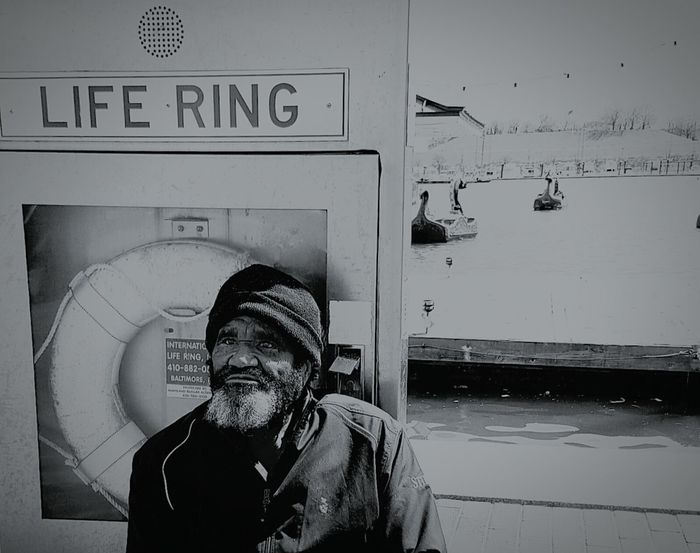 Long Goodbye Real People Close-up Homeless Man Life Ring Homeless Awareness Bmore Charm City Outdoors Day Adult One Man Only One Person Baltimore Maryland Baltimore Street Photography City Life Reality Life On The Streets Panhandling Spare Some Change Homeless TCPM The Portraitist - 2017 EyeEm Awards