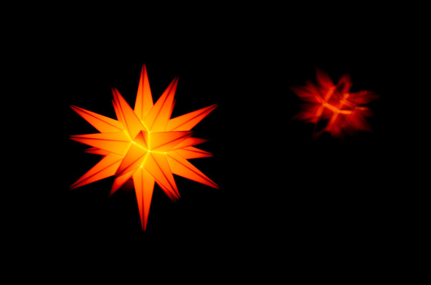 Christmas Christmas Star Christmas Stars Pattern, Texture, Shape And Form Backgrounds Black Background Close-up Illuminated Night No People Orange Color Outdoors Pattern Studio Shot