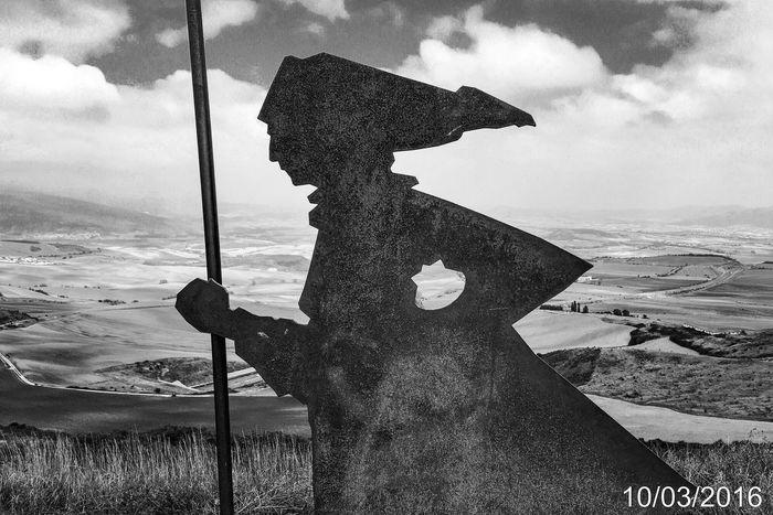 Documentary Photography Caminodesantiagopage Facesandplacesofthecamino CaminodeSantiago The Way Forward Pilgrimage Camino Theway Camino De Santiago Jakobsweg SPAIN Alto Del Perdon Navarra Monochrome Photography