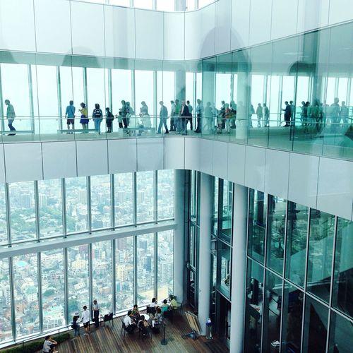 Abeno Harukus 60F Clear Blue Sky View-preeminence Osaka Japan 今度は夜景💫