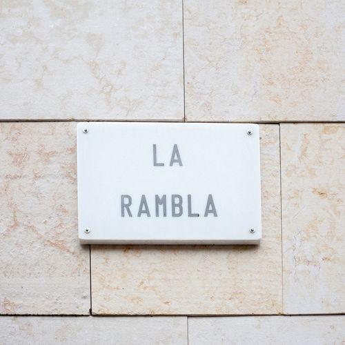 La Rambla Street Sign On Wall