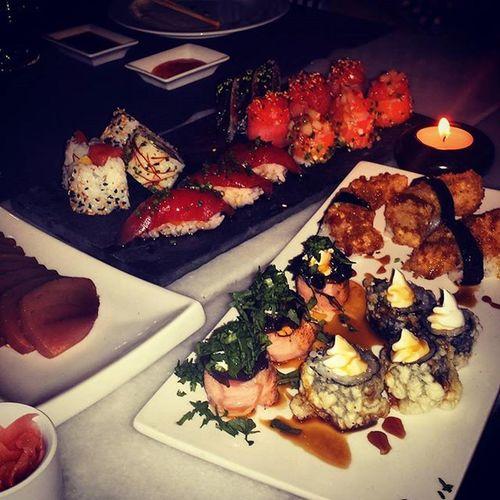Sushi 🙈🙆🙆 Sashimi  Japanesefood Momentosdeldia Relaxingcup with fish fresh to Santarém ... Gutenappetit and Bonanit 😃😆😆😆🍙🍤🍣