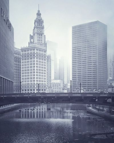 Trying to embrace black and white ➰➰➰➰➰➰➰➰➰➰➰➰ B/w Black & White Blackandwhite Photography Misty River View Fog Mist Buildings Wrigleybuilding Chicago Skyline WabashAve Bridge Lovelovelove Mycity Architecture Architecture_collection Architecture_bw EyeEm Best Shots Eyeemblack&white Eyeym Bnw Eyeemgallery IPhoneography The City Light The City Light