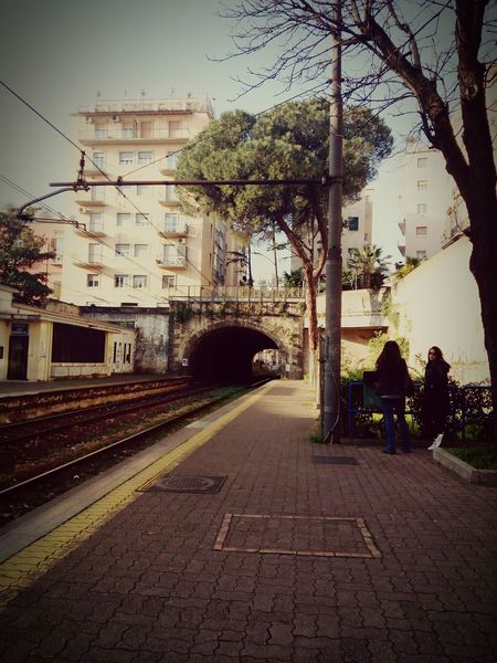 The City Light Transportation No People Outdoors Street Tree City In Front Of Me Structure Photography Vintage Photo Beauty In Nature Day Front View Building Exterior City Sky Architecture Tree Subway Station Train - Vehicle Travelphotography Low Angle View Travel Destinations Built Structure Idyllic Scenery