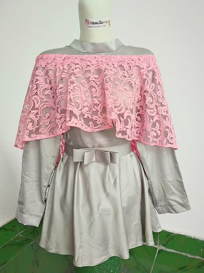 Mega Top Dress with Pink Lace (Cape) by Armella Vogue. For Order WA 089674316869 Armellavogue Armella Kebaya Coathanger Fashion Mannequin Womenswear Lace - Textile Female Likeness Dress Lace - Fastener Shop Clothes Clothing Store Dressmaker's Model First Eyeem Photo