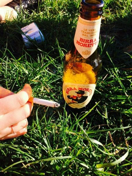 afternoon at the park Beerandcigarettes Beer Cigarette  Arezzo Spring2015 Park Sunnyday Chilling With Friends