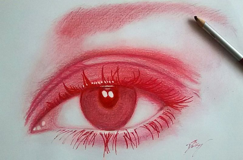 ( page facebook DaisyObscure ) Love Eye Red Draw Facebook DaisyObscure