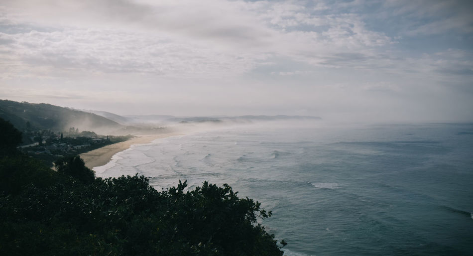The morning sea mist Aerial View Beauty In Nature Cloudy Coastline Day Horizon Over Water Idyllic Landscape Morning Nature No People Non-urban Scene Ocean Outdoors Remote Scenics Sea Sea Mist Seascape Sky Tranquil Scene Tranquility Water