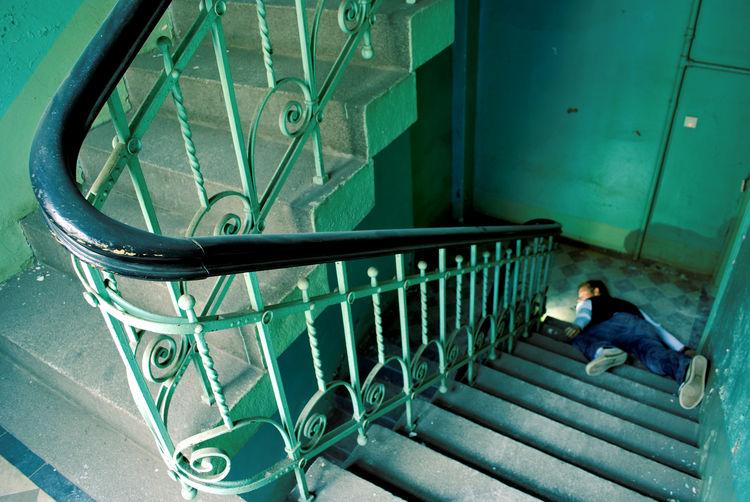 Gefahr Opfer Treppenhaus Fallen Gefährlich Insurance Sturz Tot Treppe Unfall Unfallversicherung