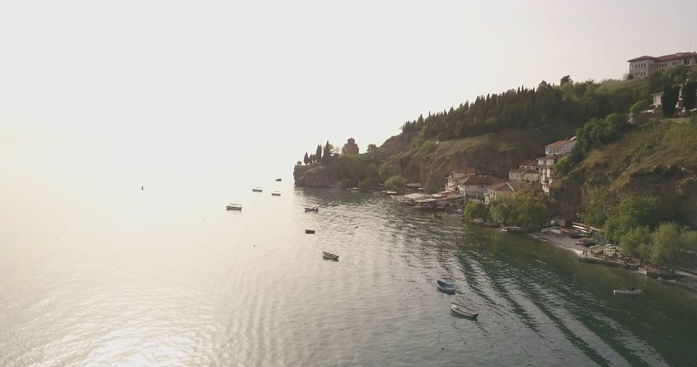 ohrid,macedonia Aerial View Balkans Day Drone  Lake Ohrid Macedonia Nature Ohrid Outdoors Skopje Sky UNESCO World Heritage Site