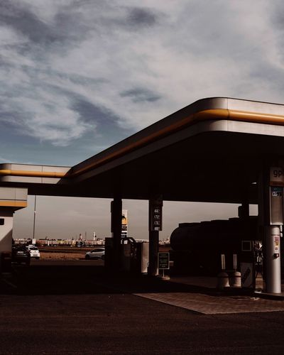 Gas station Ontheroad Travel Summer Urban Gasstation Cloud - Sky Architecture Sky Built Structure Gas Station Nature Fuel Pump Transportation Fuel And Power Generation Gasoline Car Outdoors City Motor Vehicle