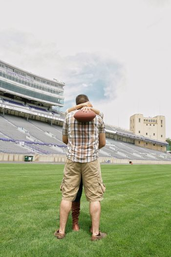 Football Football Stadium Football Couple Football Engagement Football Lovers Canon Rebel Xti Kissing