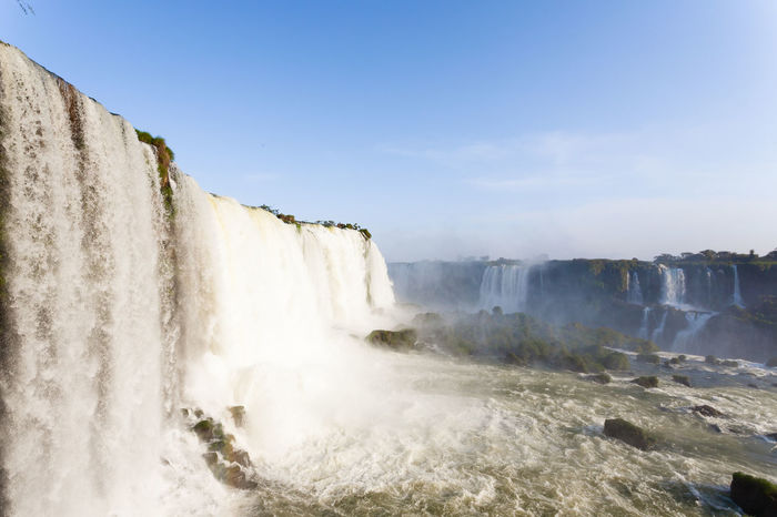 Iguazu falls view, argentina Iguazu Falls Iguazu National Park Iguazu Iguazu 🌈🔆 Iguazu River Argentina Brazil National Park Water Landscape Landmark Nature Outdoor Water Waterfall Power In Nature Motion Long Exposure Sky Falling Water Flowing Natural Landmark Rapid Flowing Water