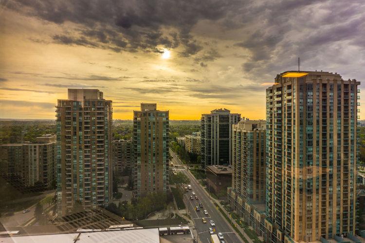 Architecture City Roads City View  Cityscape Cloud - Sky Sky Skyscraper Sunrise