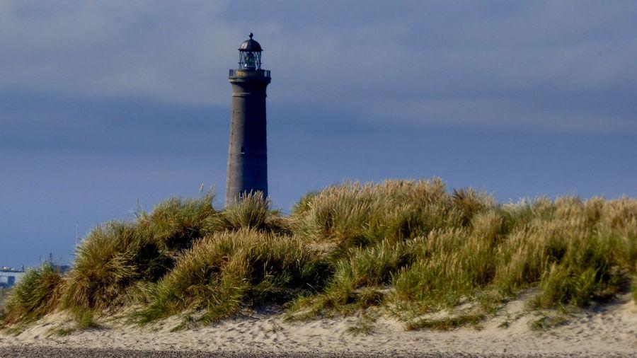 Skagen lighthouse Nature Lighthouse Blue Sky Architecture Landscape Building Exterior Sand Dune