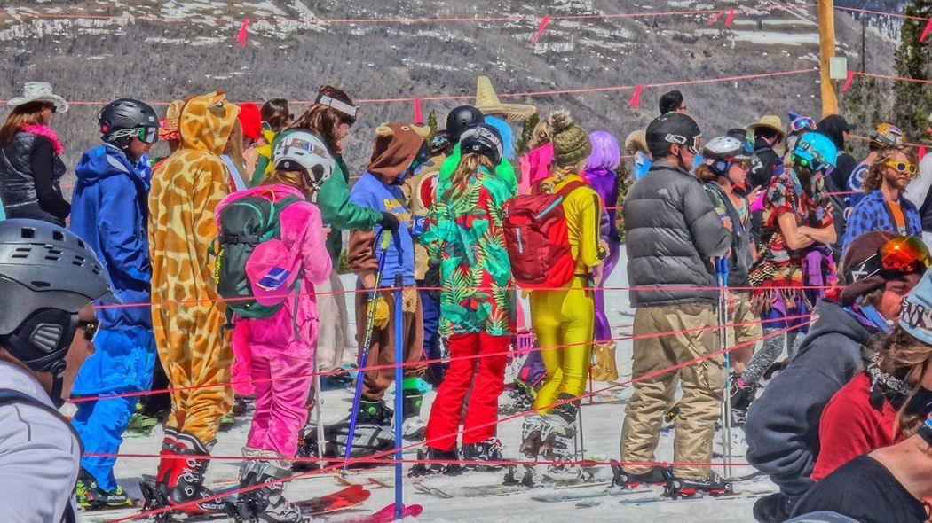 Crowd Day High Angle View Large Group Of People Men Multi Colored Outdoors Standing The Street Photographer - 2017 EyeEm Awards Vail  Vail Colorado Vail,co Women