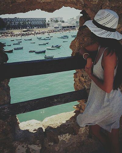 Beach Reflection One Woman Only Water Lifestyles Cheerful Cádiz, Spain Arte Flamenco Queen👑 Oleole
