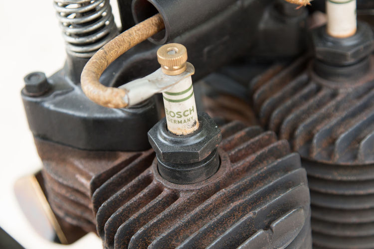 Motor Motorcycle Spark Plug Close-up Day Indoors  Metal No People Tire