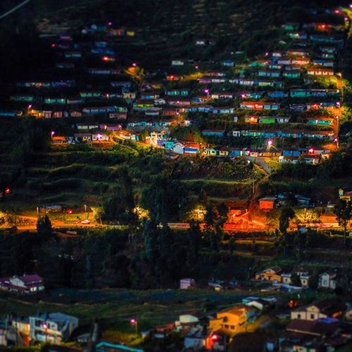 It was a splendid view to see all those houses in steps getting lit up one by one from the top of the valley EyeEm Best Shots EyeEm Viewfromthetop Hills Hillstation Udhagamandalam Ooty Litup Steps Town Tiltshift Miniature Night Outdoors No People Illuminated Scenics Landscape Tree Nature Building Exterior Mountain Beauty In Nature Architecture City