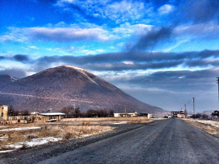 Talas, Kayseri, Türkiye Alidağı Sky Cloud - Sky Mountain Nature No People Snow Beauty In Nature Road Day Cold Temperature