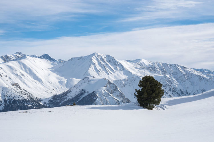 Mountain View Skiing Südtirol Tree Alps Beauty In Nature Cloud - Sky Clouds And Sky Cold Temperature Day Landscape Mountain Nature No People Outdoors Scenics Sky Snow Snowcapped Mountain Tranquil Scene Tranquility Tree Winter