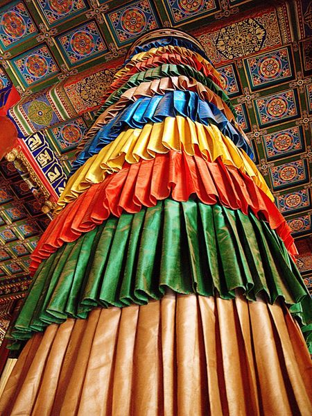 Ornate Ceiling Buddhist Temple Lama Tibetan  Beijing, China Asian  Coloutful BEIJING北京CHINA中国BEAUTY Belief And Faith Religion Sacred Shrine Spirituality Temple - Building Traditional Travel Photography Travel And Tourism Detail Colours Vibrant Colors Colour Image Indoors  Vertical Lama Temple Buddhism