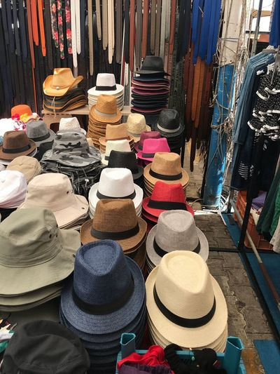 For Sale Retail  Choice Market Variation Large Group Of Objects Multi Colored Hat Abundance Arrangement Market Stall Clothing Store Day Retail Display Textile No People Collection Shopping Business
