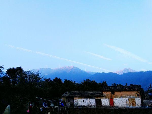 Blue Sky Sunny Day☀ Beautiful Day Beautiful Nature Beautiful Mood Clean Air Countryside Riding Bike Mountain View