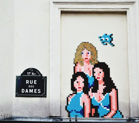 Paris France Pixelated Communication Logographic