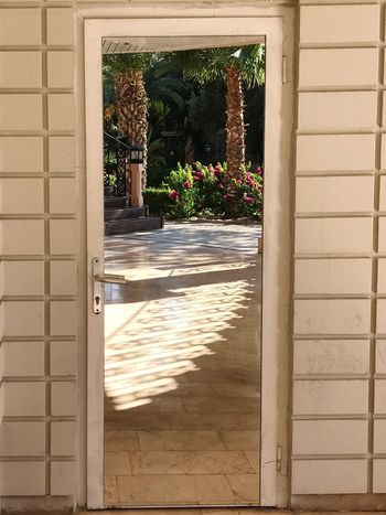 Escape to paradise Framed Doorway Escape Summer Sunshine Reflection Mirror Sunlight Door Day No People