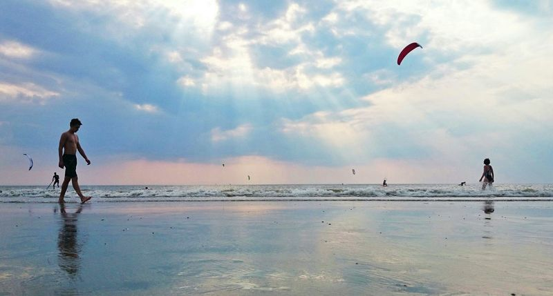 Enjoying The Sunset Life Is A Beach Kitesurf Worldcup My Best Photo 2014