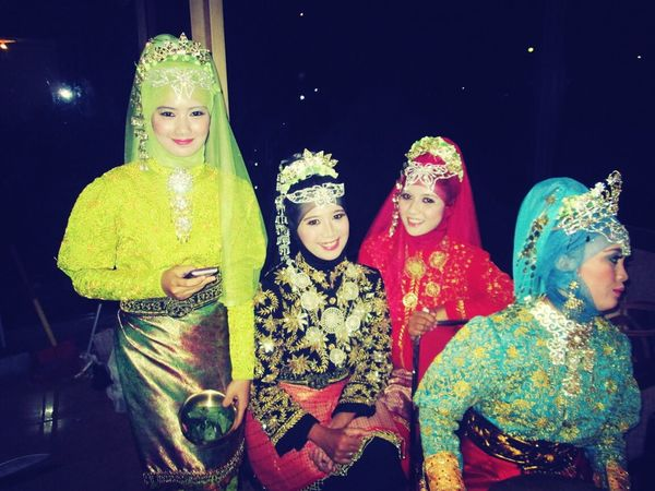 at backstage after performing Aceh Traditional Dance INDONESIA Wonderful Indonesia