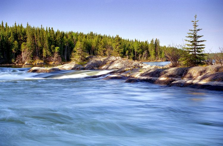 A tiny slice of the mighty Churchill River. River River View Howiseethings Slidefilm Filmisnotdead Beautiful Nature Canada Churchill River In The Forest Calm Boreal Relaxing Tranquility Tranquil