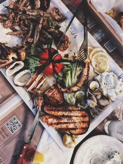 Don't worry, this was for 4 persons. Gourmet Delicious Diet Food Art A Taste of Life Sea Food Food Food And Drink High Angle View Freshness No People Indoors  Still Life Ready-to-eat Table Directly Above Healthy Eating Wellbeing Plate Meal