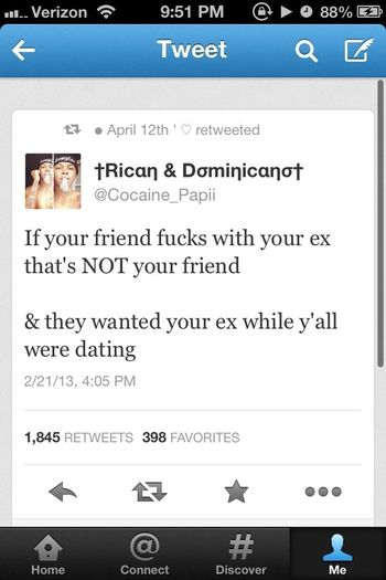My All Timee Favoritee Tweet . This Provess You Cant Trust Nobody && There Are Some Dirty Ass People Out There In The World .